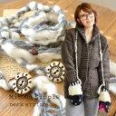 もこもこわたのような毛糸に、ナチュラルなビーズのアクセントつきで、単体でネックレスとして使うのも◎