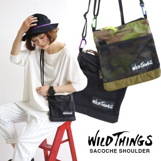 With carabiner joint! Durable nylon pouch. ◎ to travel, concerts and festivals sakshshoulder bag Passport put cards can feel free to put the put the ticket holder travel card case ◆ WILD THINGS ( wild ) SACOCHE SHOULDER