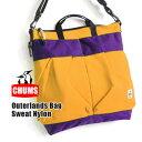 【送料無料】トートバッグとしてもメッセンジャーバッグとしてもOK レディース メンズ ユニセックス 鞄 大容量 旅行バッグ 旅行カバン 1泊 通学 A4 大きめ イーザッカマニア◆CHUMS(チャムス):スウェット×ナイロン アウターランズ 2WAYショルダーバッグ
