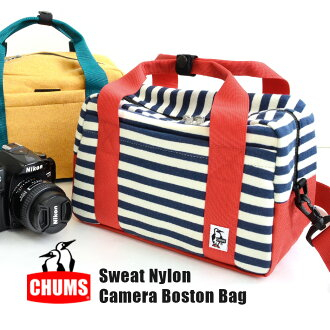 The inner cushion of the inside protecting a camera is removable! Therefore I am usable as both a camera bag and a daily bag! CH60-0805 ◆ CHUMS (Kiamusze): Sweat shirt X nylon Boston shoulder camera bag
