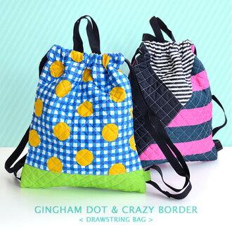 這就像國產的背包。 把運動服完美背包背包拉繩袋孩子袋孩子男孩女孩苗圃花園幼稚園學校入口慶祝幼稚園開園慶典,• 體操服裝袋 [點格子 & 邊境] 堅固絎縫織物製成的