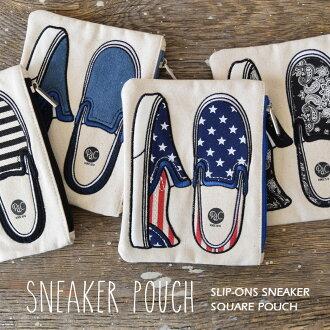 """手套隔間很多可愛的""""鞋子""""矩形。 有趣的化妝袋使採購這樣舒適的門廊,與拉鍊小玩意帆布帆布鞋鞋做小玩意禮品迷彩豹 ◆ 易穿式運動鞋平方米門廊"""