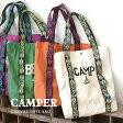 【クーポン最大20%OFF】キャンプにまつわるアレコレをロゴにデザインした、キャンバス素材のトートバッグ。オルテガ柄のハンドルがカジュアル! レディース メンズ トートバッグ A4 大きめ お出かけ 鞄 カバン かばん 帆布 綿 コットン◆キャンパー トートバッグ