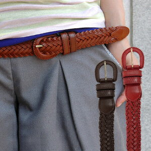 For coordinates usual with a simple one tone knitting knitting belt an accent! The item which the width of bold coordinates spreads through though it is simple is basic item ◆ standard mesh leather belt using the cowhide of the genuine article