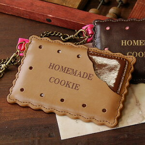 "Homemade cookie like MOM made rip-off! bit style emerged from the ""flapper"" is also a cute biscuit type card case about three pockets or chain also features Pat ◆ FLAPPER: ホームメイドクッキーパス case"