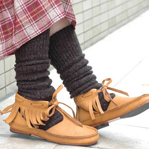 --Fringe is a detachable 2-WAY バッファローレザーシューズ! To put it a long season from the IEL short boots are leather items can also be simple shoes appeared and spring boots ◆ C.I.L.: ループリボンフリンジ leather shoes