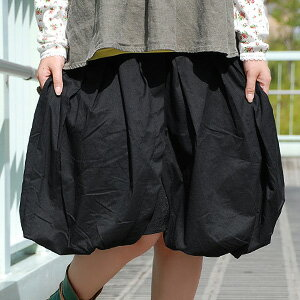 "It is totally personality group culottes such as the balloon skirt! The sarouel pants-like bottoms where a silhouette and pleats create a quality of child of the woman softly in ボリューミィー are appearance ◆ gathers lap balloon culottes from ""a pechka&qu"