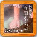 28年産 秋田県産 産直もち米(白米)30kg(5kg×6袋)