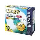 【maxell(日立マクセル)】CD-RW/4倍速/10枚/プリンタブル CDRW80PWS1P10S(2145926)【送料区分:通常送料(1万円未満)】