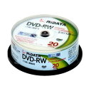 RITEK ライテック2倍速DVD-RW ビデオ用 CPRM/20枚スピンドル/プリンタブル DVDRW120.20WHT(2389869)