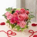 【アレンジメントフラワー】「恋するベリー〜Heart basket〜」 花 ギフト 誕生日 結婚記念...