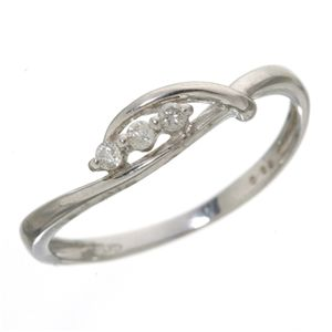 10000円以上送料無料 スリーダイヤリング 指輪 13号