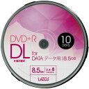 LAZOS DVD+R DL 8.5GB for DATA 8倍速対応 10枚組スピンドルケース入【×5個セット】 L-DDL10P-5P AV・デジモノ AV・音響機器 記録用メ..