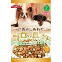 ペット用品 犬用食品(フード・おやつ) ドッグフード(ドライフード・総合栄養食) いぬのしあわせ ゴロッと具ルメ 小粒 7歳からの高齢犬用 ささみ&豆腐入り 750g