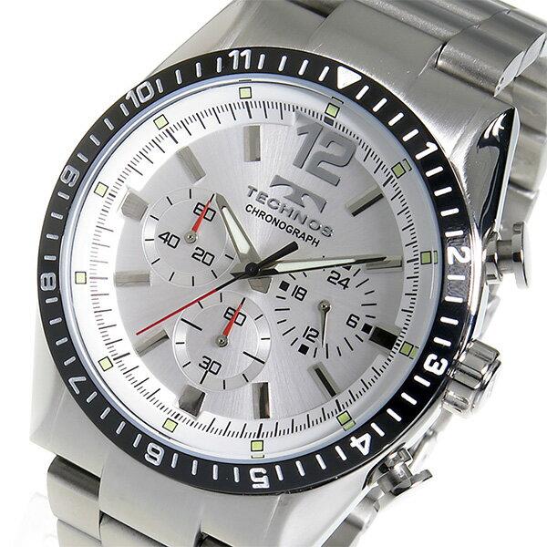 レビュー投稿で次回使える2000円クーポン全員にプレゼント 直送 テクノス TECHNOS クロノ クオーツ メンズ 腕時計 TSM104TS シルバー 【腕時計 低価格帯ウォッチ】 こちらはショップレビュー5点満点中4.2超えのショップとなります。