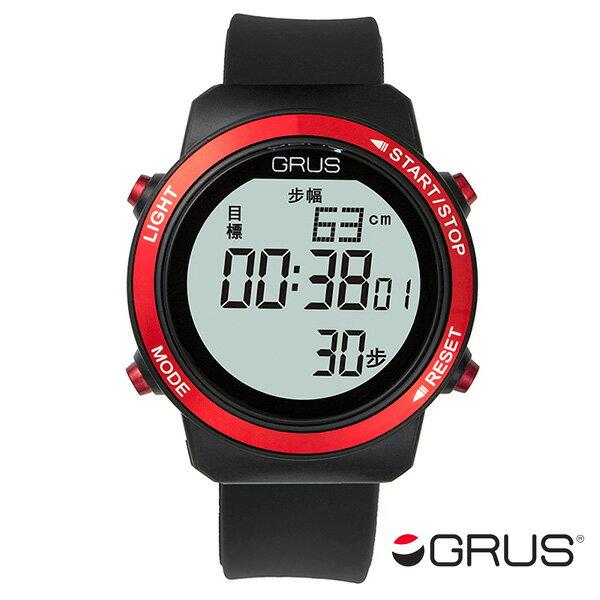 レビュー投稿で次回使える2000円クーポン全員にプレゼント 直送 グルス GRUS 歩幅計測機能付 ウォーキングウォッチ GRS001-01 ブラック/レッド 【腕時計 国内正規品】 こちらはショップレビュー5点満点中4.2超えのショップとなります。