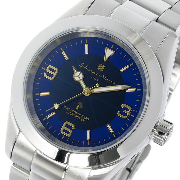 レビュー投稿で次回使える2000円クーポン全員にプレゼント 直送 サルバトーレ マーラ SALVATORE MARRA 電波ソーラー クオーツ メンズ 腕時計 SM16113-SSBLGDB ブルー 【腕時計 低価格帯ウォッチ】 こちらはショップレビュー5点満点中4.2超えのショップとなります。