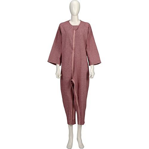10000円以上送料無料ソフトケアねまき両開きファスナー厚手赤LL(1枚入)介護介護用衣料品パジャマ