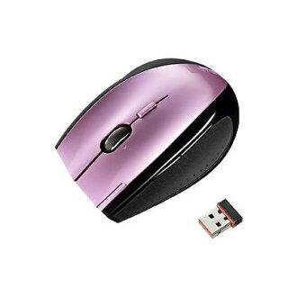 산와 서플라이 작은 수신기 무선 레이저 마우스 (핑크) MA-NANOLS7P