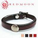 レッドムーン REDMOON レザーブレスレット RM-WBA コンチョ付き サドルレザー