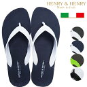 HENRY & HENRY ヘンリー&ヘンリー MADE IN ITALY ラバービーチサンダル フリッパー