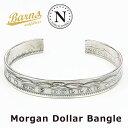バーンズ BARNS × ノースワークス NORTH WORKS シルバーバングル Morgan Dollar Coin モーガンダラー コイン