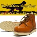 """REDWING レッドウィング IRISH SETTER アイリッシュセッター クラシックワークブーツ 6"""" MOC TOE GOLD ゴールドラセット セコイア 復刻犬タグ Style No.9875"""