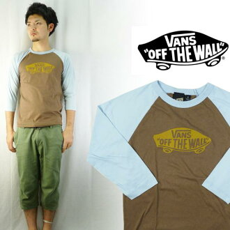 VANS 빵 MADE IN USA 베이스볼 티셔츠 「 OFF THE WALL 」