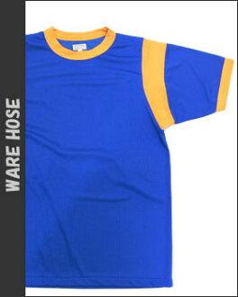 웨어하우스 WAREHOUSE 메쉬 소재 백 프린트 티셔츠 「 Crescent 」