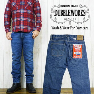ダブルワークス DUBBLE WORKS ユーズドウォッシュ jeans slim straight jeans G bread denim