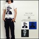スリック SLICK ソフト天竺プリント半袖Tシャツ「UNDER THE INFLUENCE」