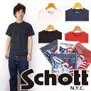 ショット Schott クルーネックポケットTシャツ 無地Tee 【メール便OK】