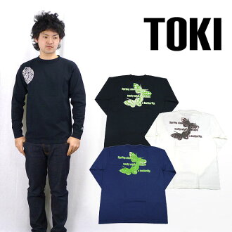 TOKI 볏 긴 소매 T 셔츠 「 나비 」