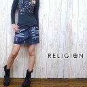 レリジョン RELIGION ミニスカート デニム リメイク