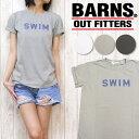 nrab BARNS Tシャツ 半袖 プリント 「SWIN」 Made in USA USA製 コットン レディース NB-3317