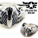 PEANUTS HEAD アースマーケット シルバー 925 パイロット リング 指輪 Pilot Ring 「Bomberdier」