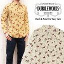 ダブルワークス DUBBLE WORKS ウエスタン プリント オープンカラー シャツ