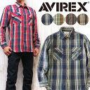 AVIREX アビレックス アヴィレックス ネルシャツ シャツ チェック ワーク デイリー コットンフランネル 6175151