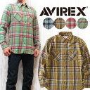 ショッピングネルシャツ AVIREX アビレックス アヴィレックス ネルシャツ シャツ ヴィエラチェック ワーク デイリー コットンフランネル 6175152