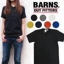 ショッピング半袖 バーンズ BARNS Tシャツ Vネック 半袖 吊り天竺 胸ポケット BR-1101 レディース 無地Tee
