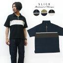 スリック SLICK 半袖 ポンチ ハーフジップ Tシャツ SLK5251410