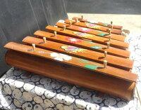竹ガムラン7鍵=絵柄付き=(竹琴/バラフォン)