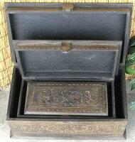 《アジアン家具》木製木箱〜3サイズセット/アンティーク調