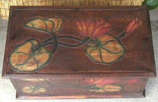 《アジアン家具》木製木箱〜3サイズセット/ロータス