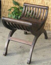 《アジアン家具》チーク製バリ・ベンチ/C