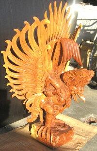 高級木彫りガルーダ〜Lサイズ〜《ジャックフルーツウッド》NKL4