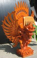 高級木彫りガルーダ《ジャックフルーツウッド》NK4