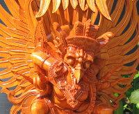 高級木彫りガルーダ《ジャックフルーツウッド》NK6