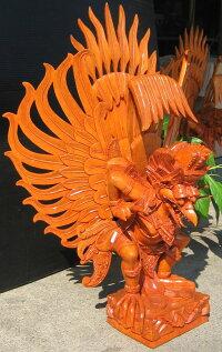 高級木彫りガルーダ《ジャックフルーツウッド》NK7