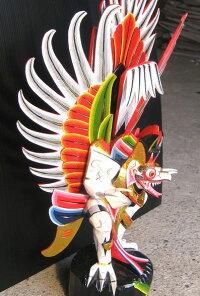 木彫りガルーダLサイズ☆ホワイト